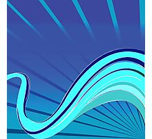 Blue waves vector Photographic Print