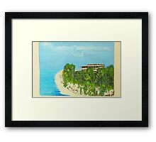 Playa Chiapas Framed Print