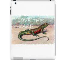 The Whistling lizard  iPad Case/Skin