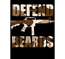 DEFEND BEARDS Photographic Print
