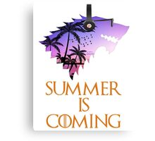 Summer is Coming Game Of Thrones Wolf Jon Snow  Canvas Print