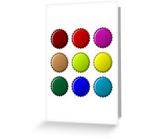 Bottle caps in colors Greeting Card