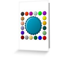 Bottle caps in colors collection Greeting Card