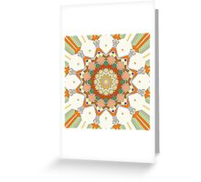 Colorful Symmetrical Star Greeting Card