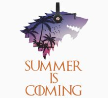 Summer is Coming Game Of Thrones Wolf Jon Snow  by baray7