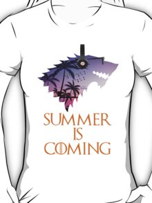 Summer is Coming Game Of Thrones Wolf Jon Snow  T-Shirt