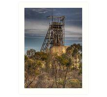 Mining In The Bush Art Print