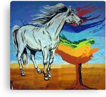 Horse With The Tree of Chakras  Canvas Print