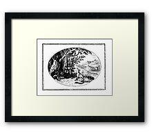 FOX AND CROW Framed Print