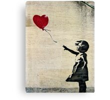 Banksy's Girl with a Red Balloon III Canvas Print