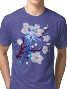 Bird and Cherry Blossoms Tri-blend T-Shirt
