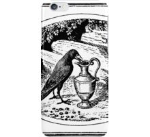 CROW STEALING A DRINK iPhone Case/Skin