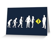 The Evolution of Man and MGTOW Greeting Card