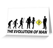MGTOW Evolution Of Man Greeting Card