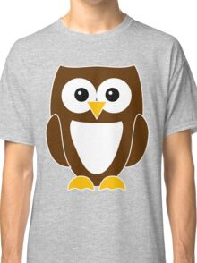 Brown Owl with White Belly Classic T-Shirt