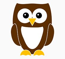 Brown Owl with White Belly Unisex T-Shirt