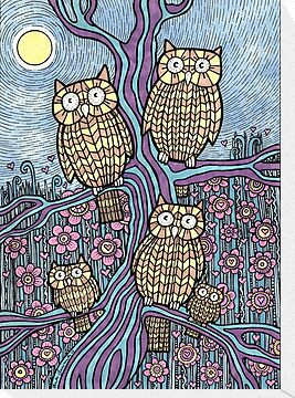 Owls Outing by Anita Inverarity
