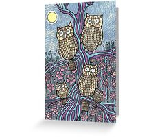 Owls Outing Greeting Card