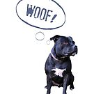 I love Staffies by Ludwig Wagner