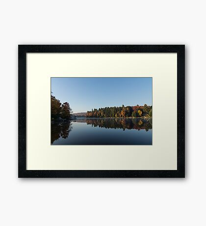 Lakeside Cottage Living - Peaceful Morning Mirror Framed Print