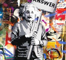 Albert Einstein Love Is The Answer Banksy Sticker
