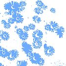 Daisies (white & blue) by Ludwig Wagner