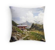 The Hut in the Mountains Throw Pillow