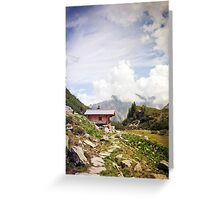 The Hut in the Mountains Greeting Card