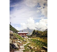 The Hut in the Mountains Photographic Print