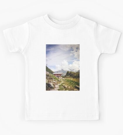 The Hut in the Mountains Kids Tee
