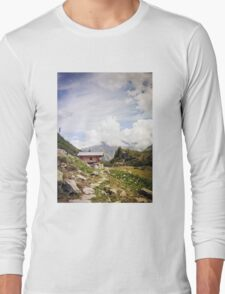 The Hut in the Mountains Long Sleeve T-Shirt