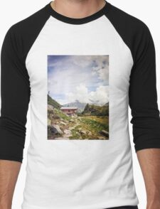The Hut in the Mountains Men's Baseball ¾ T-Shirt