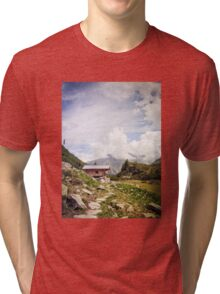 The Hut in the Mountains Tri-blend T-Shirt