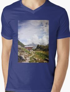 The Hut in the Mountains Mens V-Neck T-Shirt