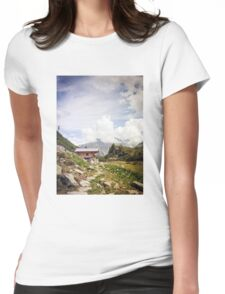 The Hut in the Mountains Womens Fitted T-Shirt