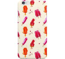 Watercolor ice cream popsicles seamless pattern iPhone Case/Skin