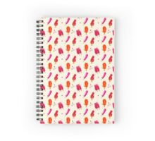 Watercolor ice cream popsicles seamless pattern Spiral Notebook