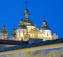 St. Michael's Golden Domed Cathedral, Kiev Ukraine by calvinincalif