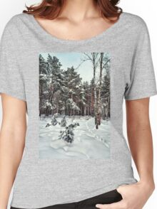 Walking in a winter park Women's Relaxed Fit T-Shirt