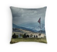 FLAG flying proudly! Throw Pillow