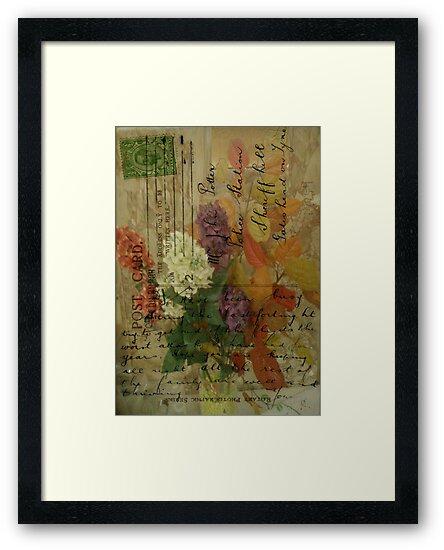 Postcard Flowers by Sarah Vernon