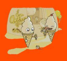 Ice cream eating children comic Kids Clothes