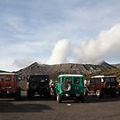 Jeeps at Mount Bromo, East Java by Ashlee Betteridge