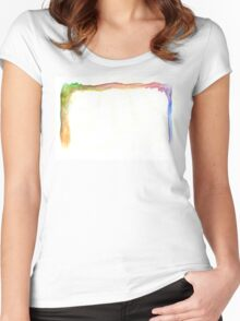 Water Color Rainbow Women's Fitted Scoop T-Shirt