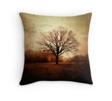 Winter Tree in Tooting Common Throw Pillow