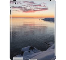 Snowy Pink Dawn on the Lake iPad Case/Skin