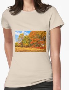 Autumn colors of nature Womens Fitted T-Shirt