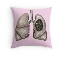 Anatomical lungs Throw Pillow