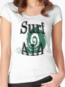 surf art Women's Fitted Scoop T-Shirt