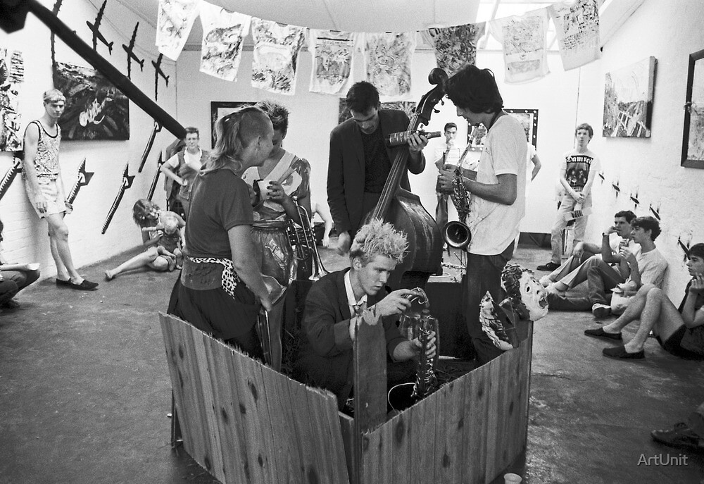 Crass Art exhibition and performance at Art Unit by ArtUnit